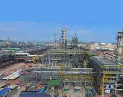 Construction of Petronas/Aramco ethylene project in Malaysia completed