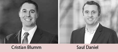 Saul Daniel and Cristian Blumm.